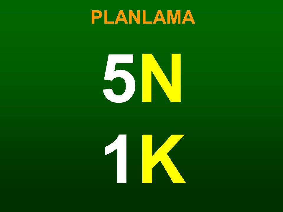 PLANLAMA 5N1K5N1K