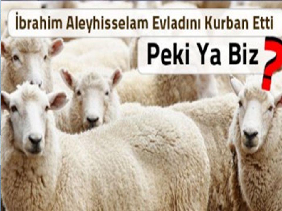  Kurban kesen kişi, Hz. İbrahim ve oğlu İsmail arasında geçen o olayı yeniden yaşamaktadır. Böylece kendisinin de Hz. İbrahim ve İsmail gibi Allah'a