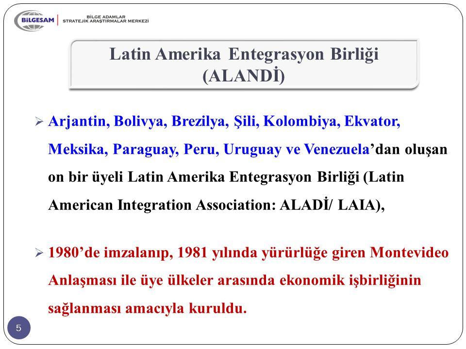 76  ALADI içinde ekonomik düzeylerine göre üye ülkeler üçe ayrılmıştır.