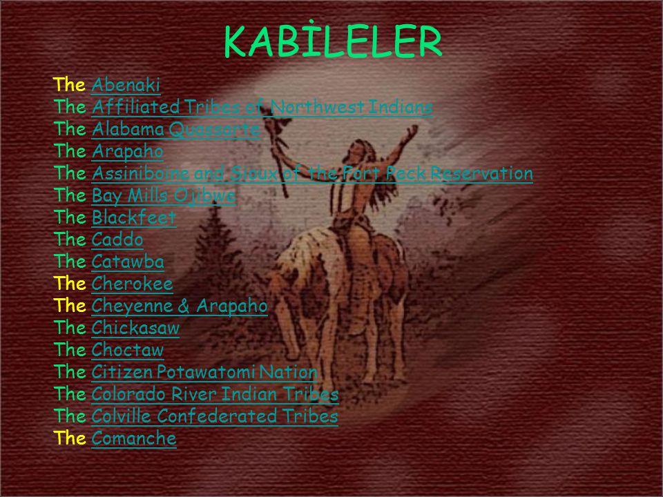 KABİLELER The AbenakiAbenaki The Affiliated Tribes of Northwest IndiansAffiliated Tribes of Northwest Indians The Alabama QuassarteAlabama Quassarte T