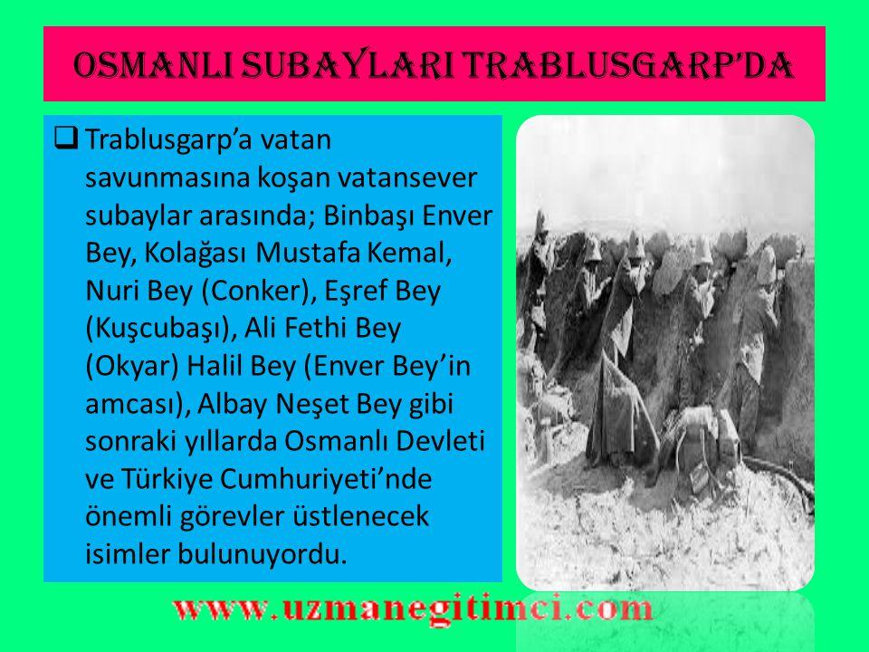 OSMANLI DEVLET İ 'N İ N SAVA Ş STRATEJ İ S İ  Osmanlı Hükümeti, bu toprakların Akdeniz'deki stratejik öneminden dolayı İtalya tarafından bir oldu bit