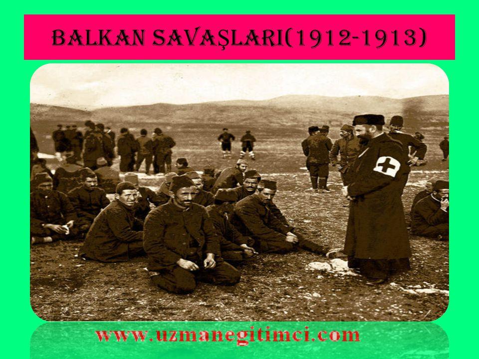 TRABLUSGARP SAVA Ş ININ SONUÇLARI 3. Bu savaş esnasındaki askerî, malî ve ekonomik sıkıntılar, ordunun büyük noksanlarının oluşu Balkanlı devletlere ü