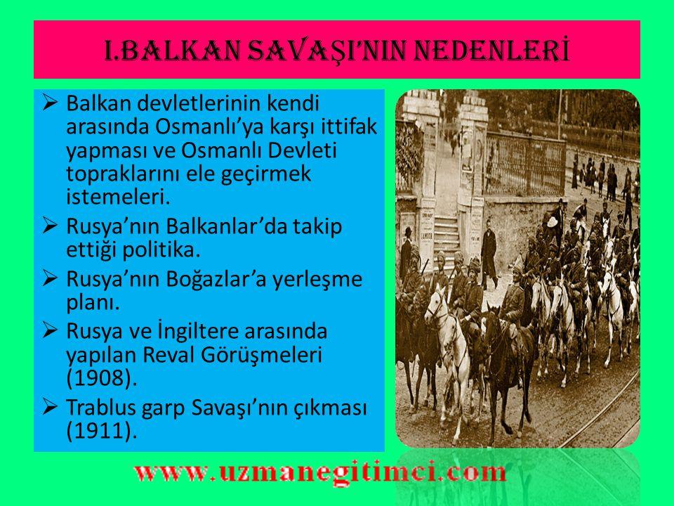 BALKAN SAVA Ş LARI(1912-1913)