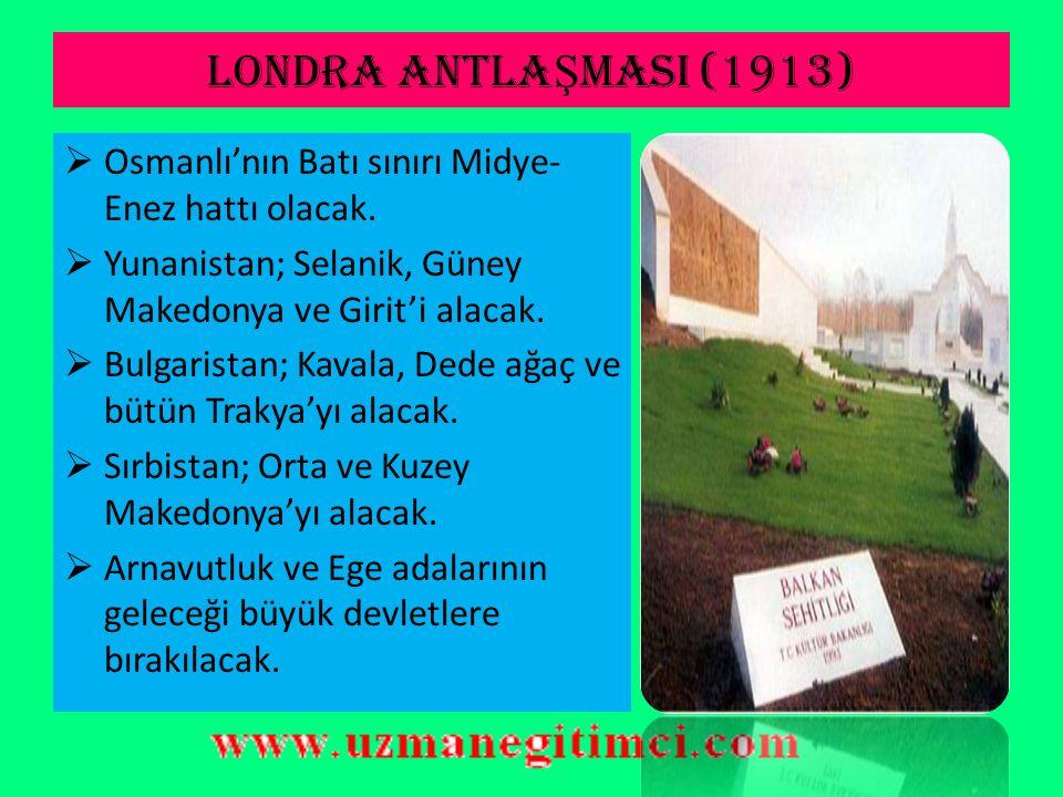 I.BALKAN SAVA Ş I (1912)  Yunanlar Ege adalarına asker çıkarmıştır.  Osmanlı Devleti, Osmanlı ordusu içindeki siyasi çekişmeler yüzünden savaşı kayb