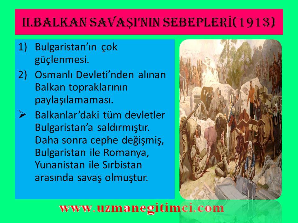 """I.BALKAN SAVA Ş I'NIN SONUÇLARI  Osmanlıcılık fikri sona ermiştir.  Balkanlar'dan kaçan Türkler Anadolu'ya göç etmiştir.  M.Kemal'in; """"Ordu siyaset"""