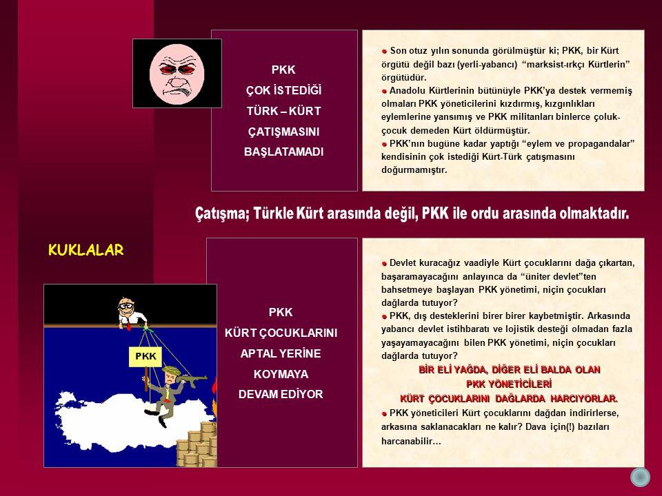KUKLALAR PKK KÜRT ÇOCUKLARINI APTAL YERİNE KOYMAYA DEVAM EDİYOR ● ● Devlet kuracağız vaadiyle Kürt çocuklarını dağa çıkartan, başaramayacağını anlayın