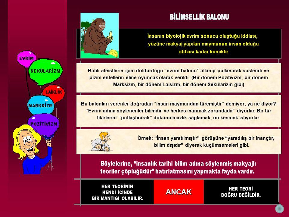 SAYILAR ● Rakamları yorumlayan yabancı bir evrimci (Jon Miller); Türkiye henüz gelişmekte olan bir ülkedir, özellikle Doğu ve Güneydoğu Anadolu daki halk eğitimsizdir.