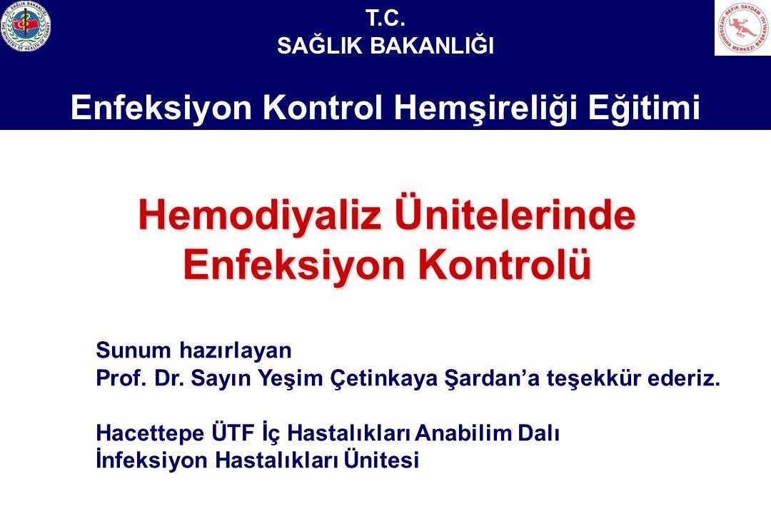 Sağlık Bakanlığı Enfeksiyon Kontrol Hemşireliği Eğitimi Su Analizleri Belirli aralıklarla bakteriyolojik (üç ayda bir) ve kimyasal analiz (altı ayda bir)yapılmalıdır.