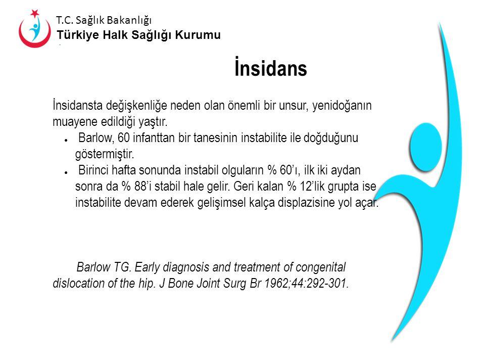 T.C. Sağlık Bakanlığı Türkiye Halk Sağlığı Kurumu İnsidans Çalışma yapılan populasyonlara ve tespitinde uygulanan yöntemlere göre farklılıklar gösterm