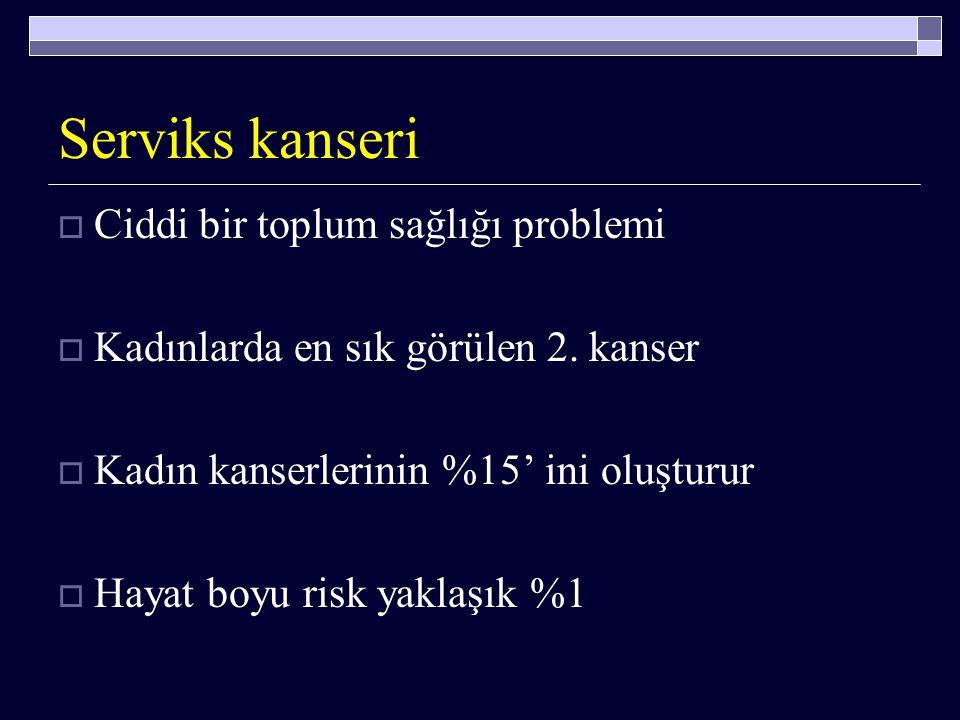SERVİKS KANSERİ Prof.Dr. Özcan BALAT Gaziantep Üniversitesi Tıp Fakültesi Kadın Hastalıkları ve Doğum AD