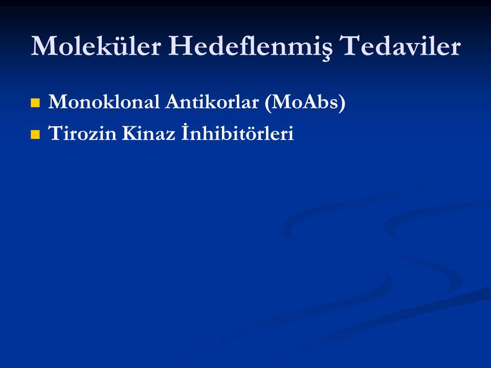 Moleküler Hedeflenmiş Tedaviler Monoklonal Antikorlar (MoAbs) Tirozin Kinaz İnhibitörleri