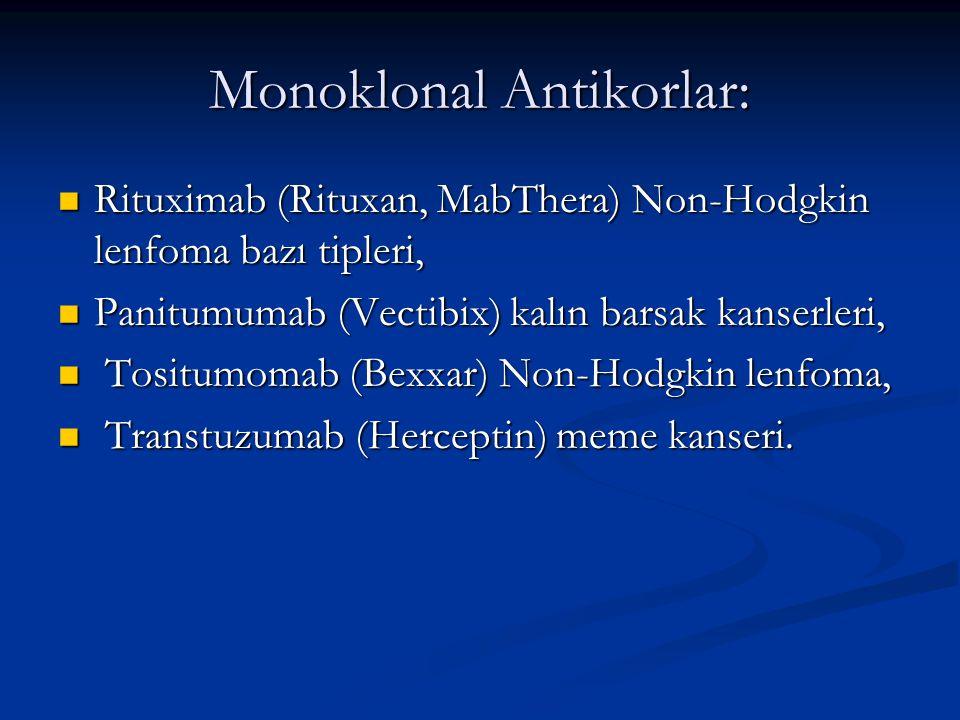 Monoklonal Antikorlar: Rituximab (Rituxan, MabThera) Non-Hodgkin lenfoma bazı tipleri, Rituximab (Rituxan, MabThera) Non-Hodgkin lenfoma bazı tipleri,