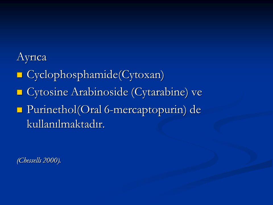 Ayrıca Cyclophosphamide(Cytoxan) Cyclophosphamide(Cytoxan) Cytosine Arabinoside (Cytarabine) ve Cytosine Arabinoside (Cytarabine) ve Purinethol(Oral 6