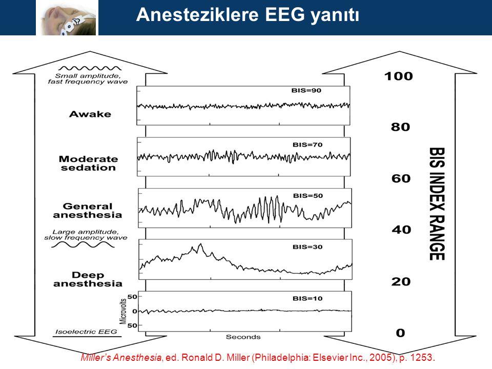 Anesteziklere EEG yanıtı Miller's Anesthesia, ed. Ronald D. Miller (Philadelphia: Elsevier Inc., 2005), p. 1253.