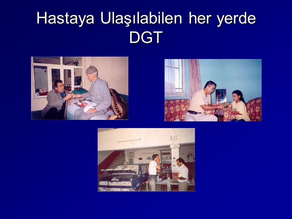 Hastaya Ulaşılabilen her yerde DGT