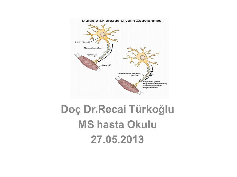 MS Doğal seyri Zaman Dizabilite MRG lezyon yükü Akut (yeni ve Gd+) MR aktivitesi Beyin volümü Kognitif disfonksiyon T 1 lezyon yükü SubklinikCISRelapsing-remittingSekonder progresif