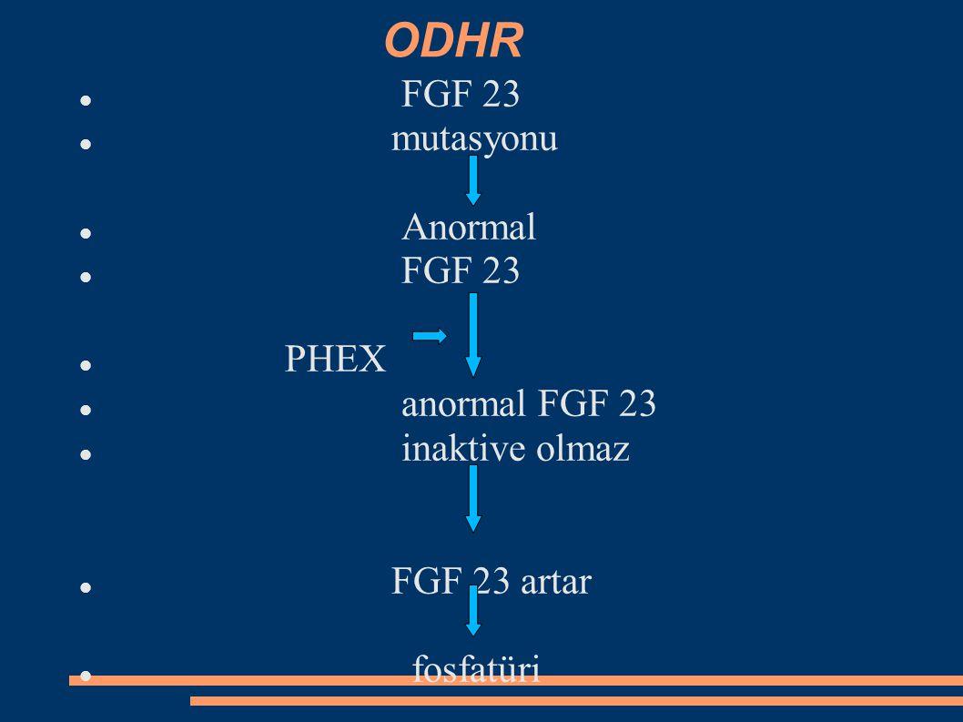 Böbrek transplantasyonu sonrası hipofosfatemi Böbrek nakli sonrası ilk birkaç ay hipofosfatemi gözlenebilir.