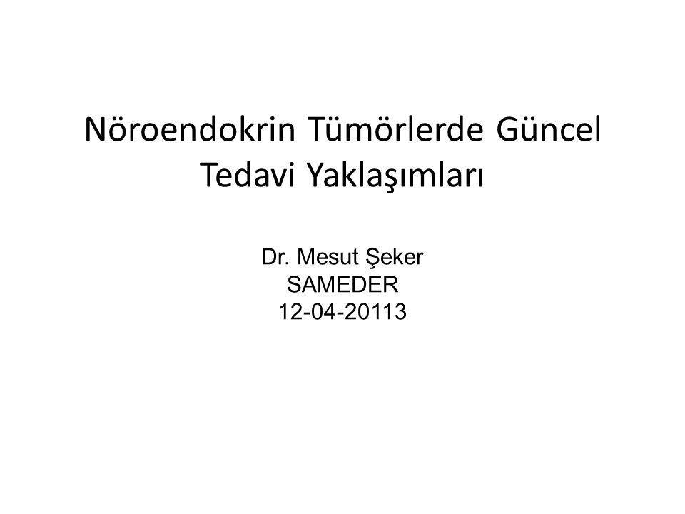 Nöroendokrin Tümörlerde Güncel Tedavi Yaklaşımları Dr. Mesut Şeker SAMEDER 12-04-20113