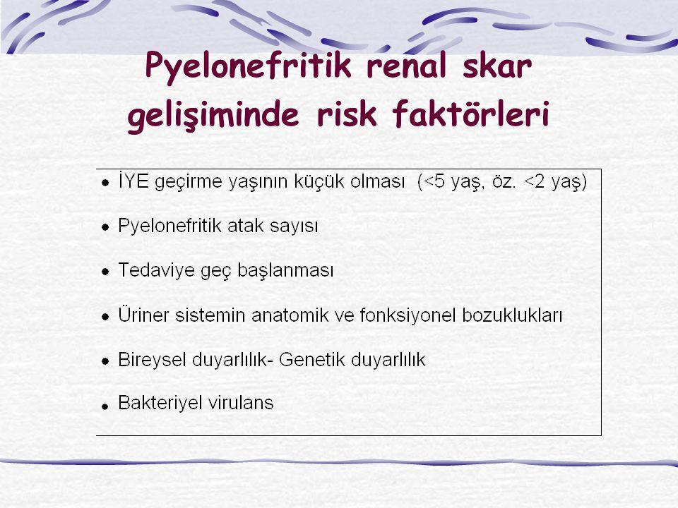 Pyelonefritik renal skar gelişiminde risk faktörleri