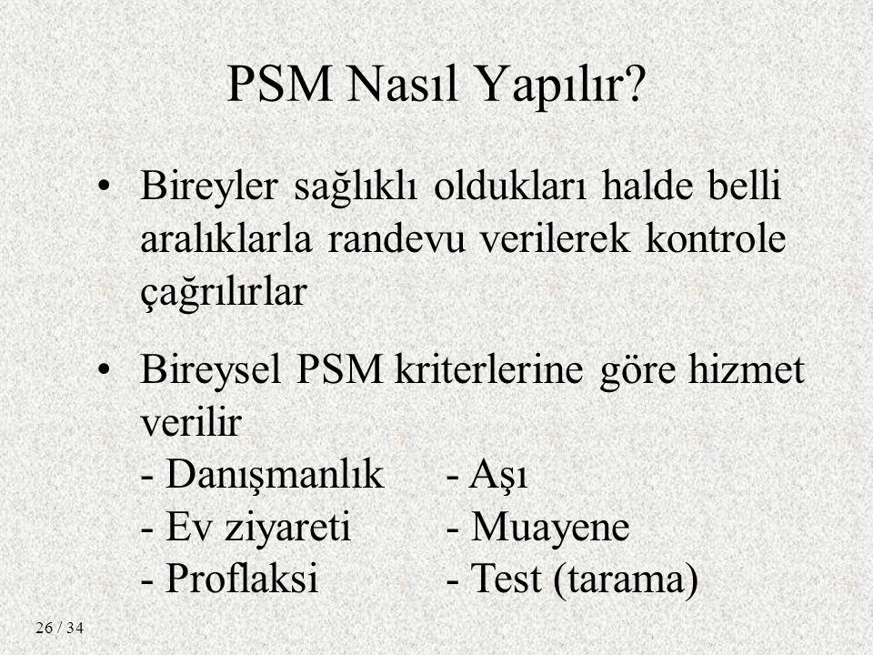 / 34 26 PSM Nasıl Yapılır.