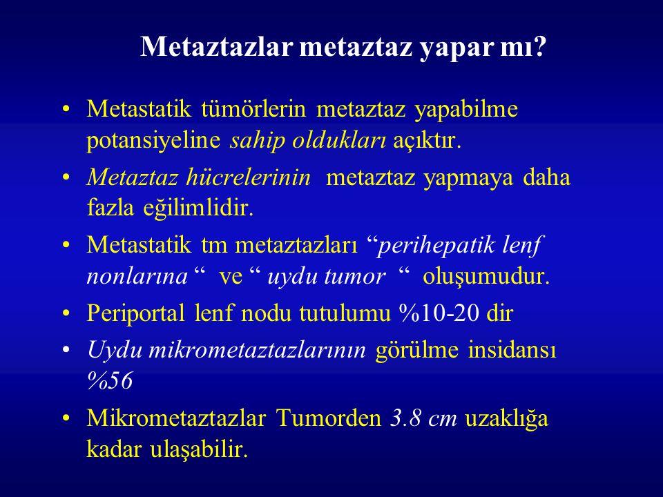 Metastatik tümörlerin metaztaz yapabilme potansiyeline sahip oldukları açıktır. Metaztaz hücrelerinin metaztaz yapmaya daha fazla eğilimlidir. Metasta