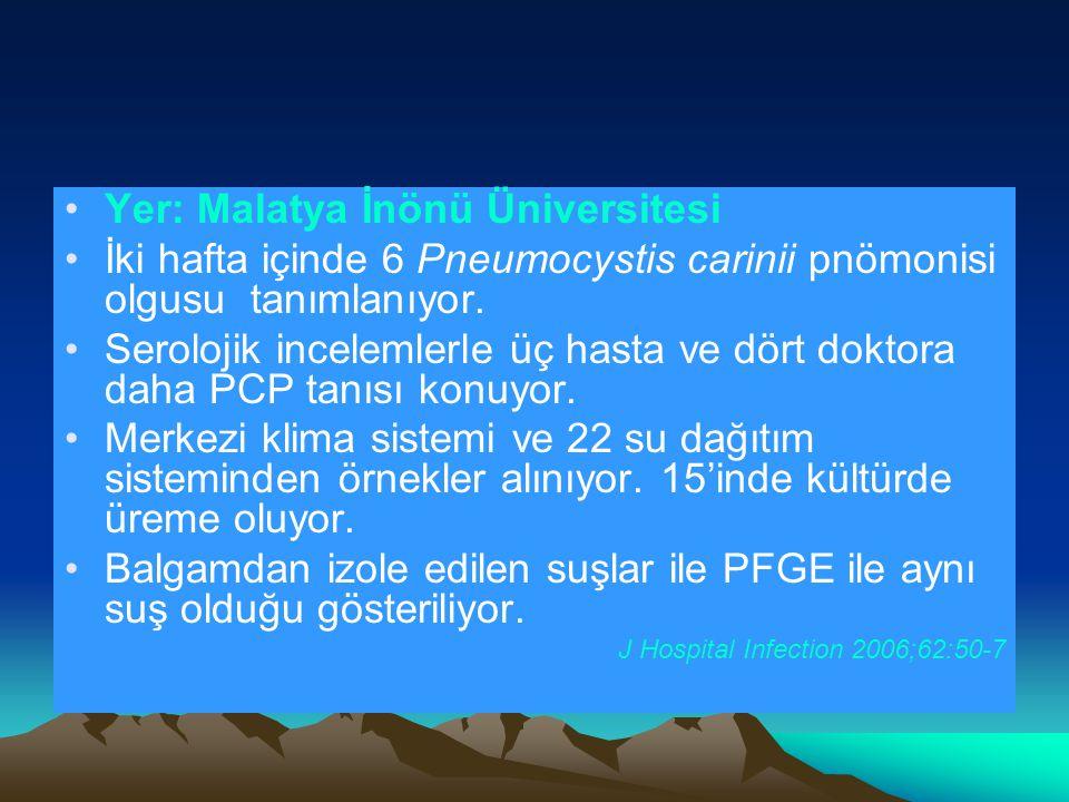 Yer: Malatya İnönü Üniversitesi İki hafta içinde 6 Pneumocystis carinii pnömonisi olgusu tanımlanıyor.