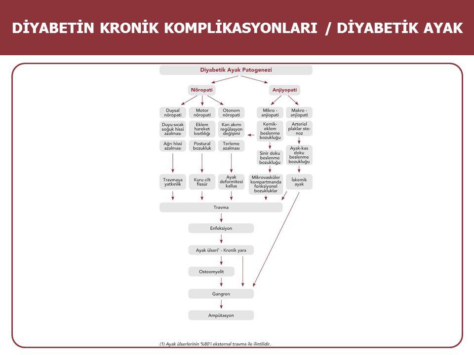 DİYABETİN KRONİK KOMPLİKASYONLARI / DİYABETİK AYAK