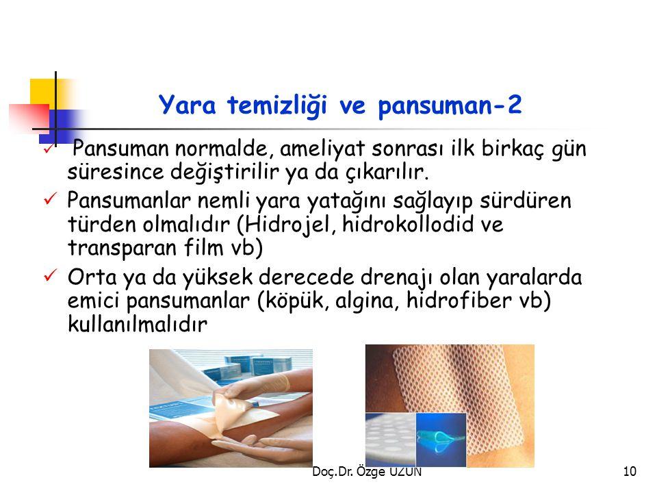 Yara temizliği ve pansuman-2 Pansuman normalde, ameliyat sonrası ilk birkaç gün süresince değiştirilir ya da çıkarılır. Pansumanlar nemli yara yatağın