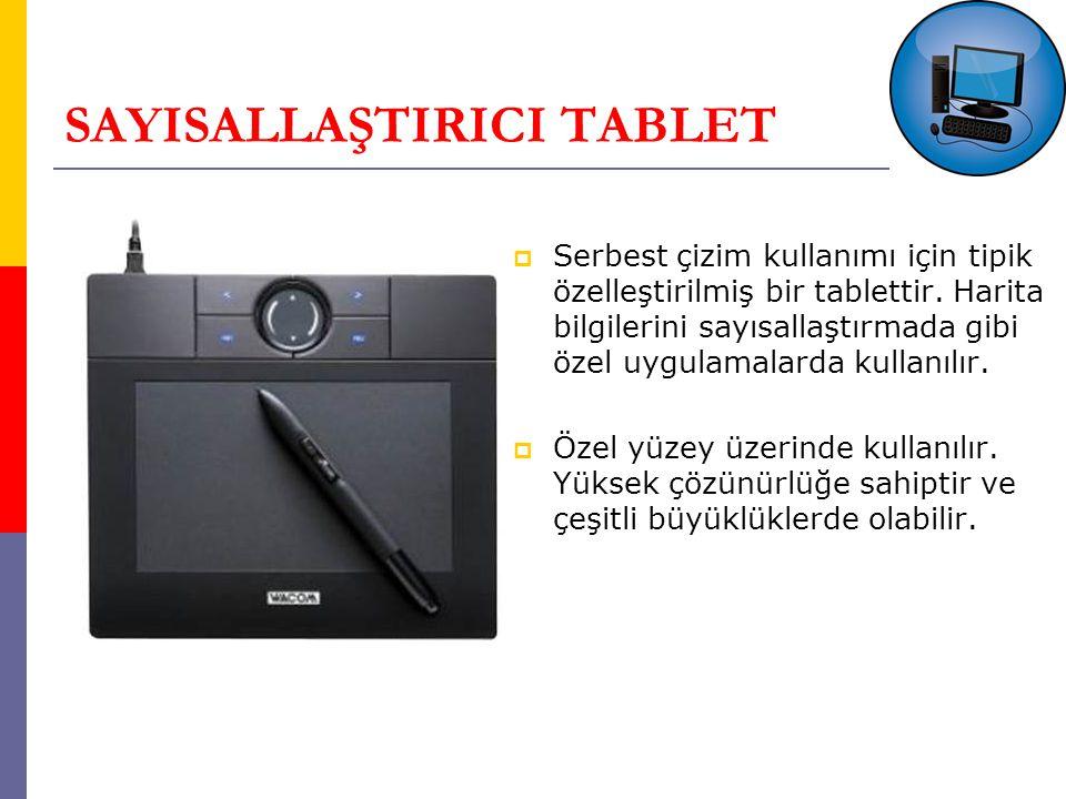 SAYISALLAŞTIRICI TABLET  Serbest çizim kullanımı için tipik özelleştirilmiş bir tablettir.