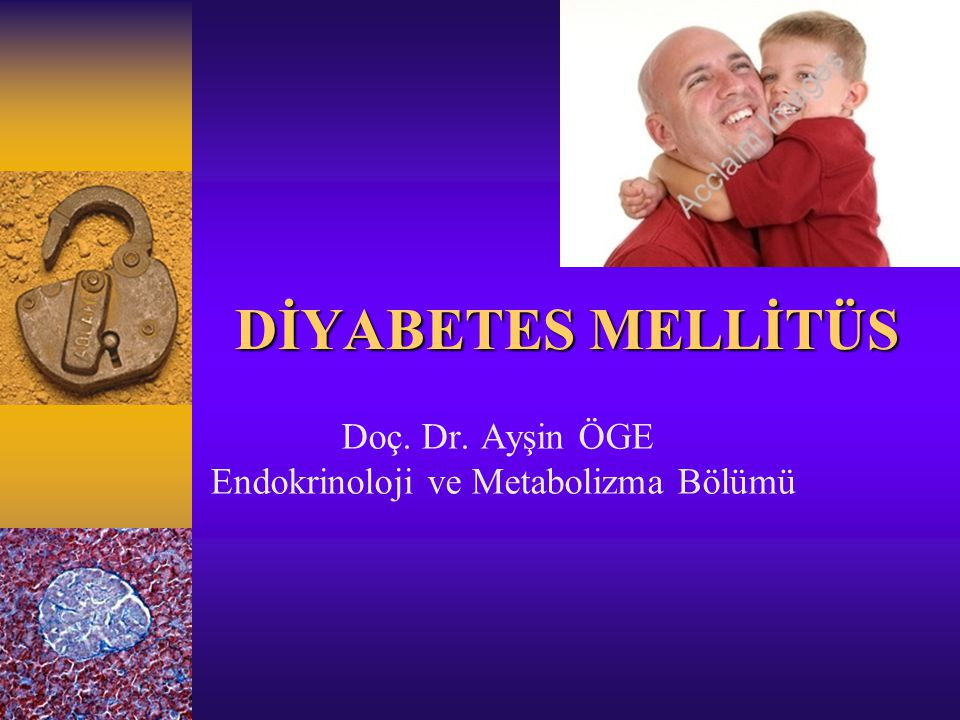 DİYABETES MELLİTÜS Doç. Dr. Ayşin ÖGE Endokrinoloji ve Metabolizma Bölümü