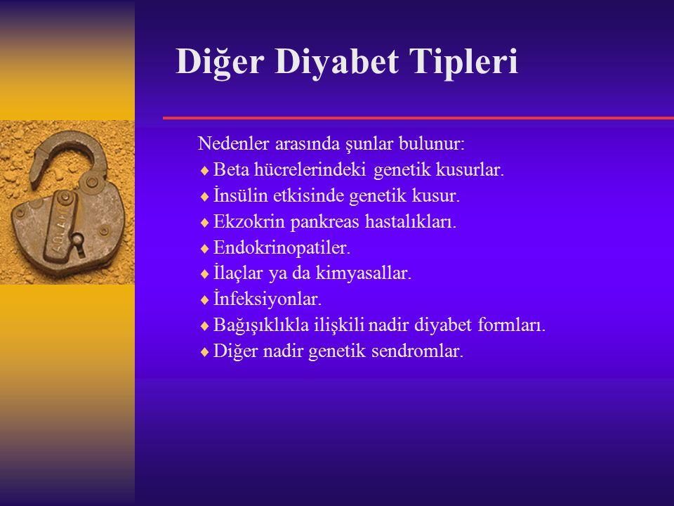 Tip 1 Diyabet  Diyabetli kişilerin %10'u Tip 1 diyabete sahiptir.