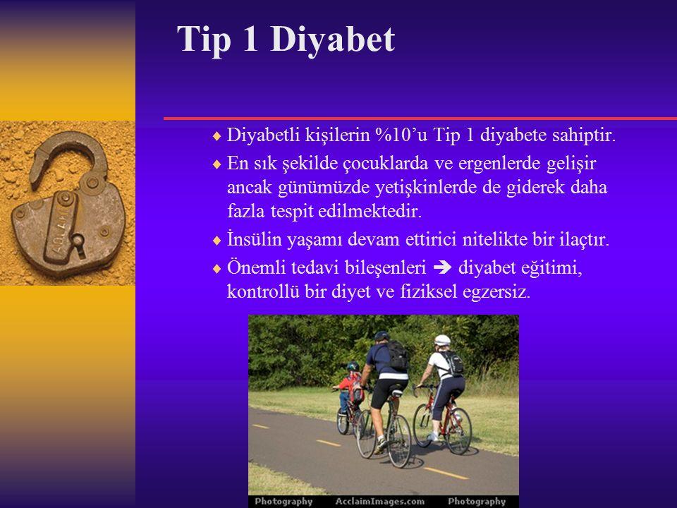 Tip 2 Diyabet  Diyabetli kişilerin %90'ı tip 2 diyabete sahiptir.