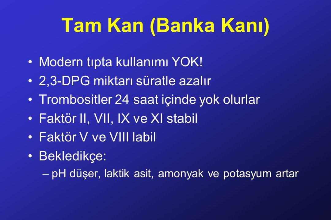 Tam Kan (Banka Kanı) Modern tıpta kullanımı YOK.