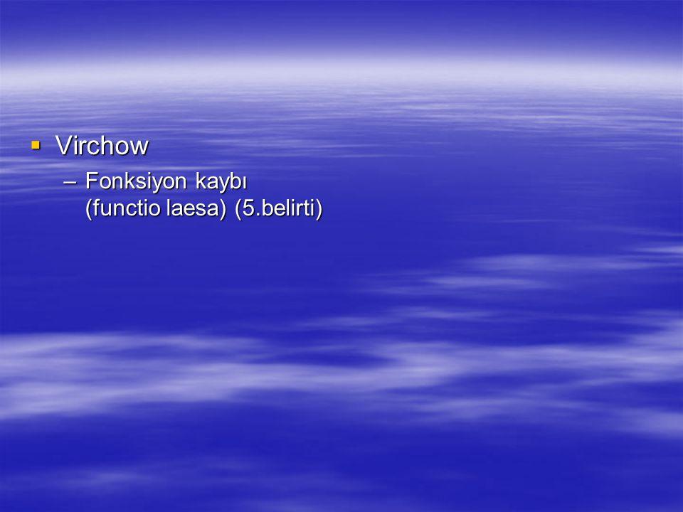  Virchow –Fonksiyon kaybı (functio laesa) (5.belirti)
