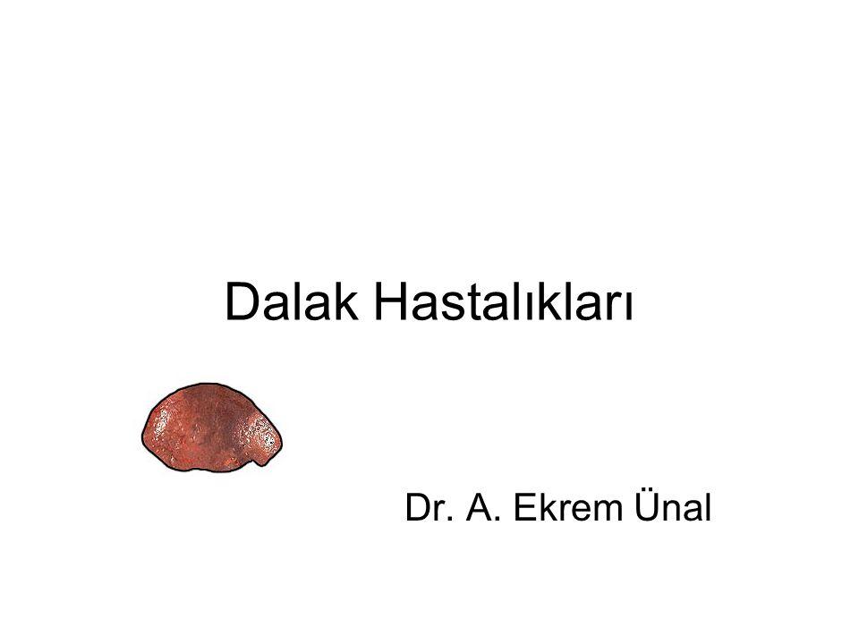 Sekonder Hipersplenizm Portal hipertansiyon ya da dalak kan akımını arttıran durumlarda oluşan hipersplenizm Splenektomi, splenik arterin embolizasyonu, portokaval şant