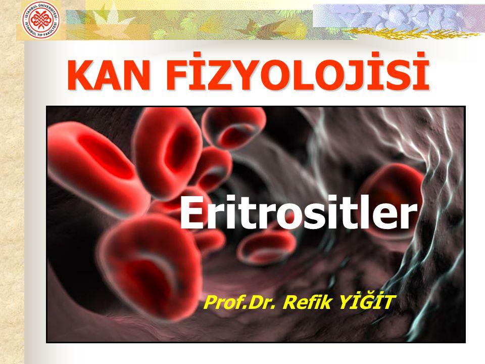 KAN FİZYOLOJİSİ Eritrositler Prof.Dr. Refik YİĞİT