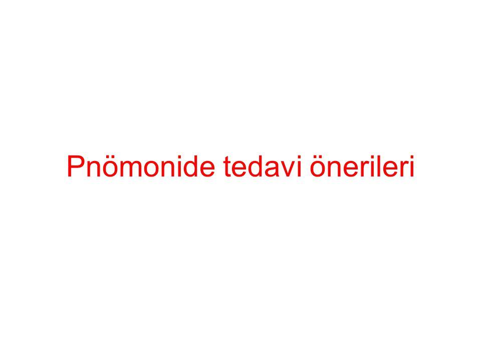 Pnömonide tedavi önerileri