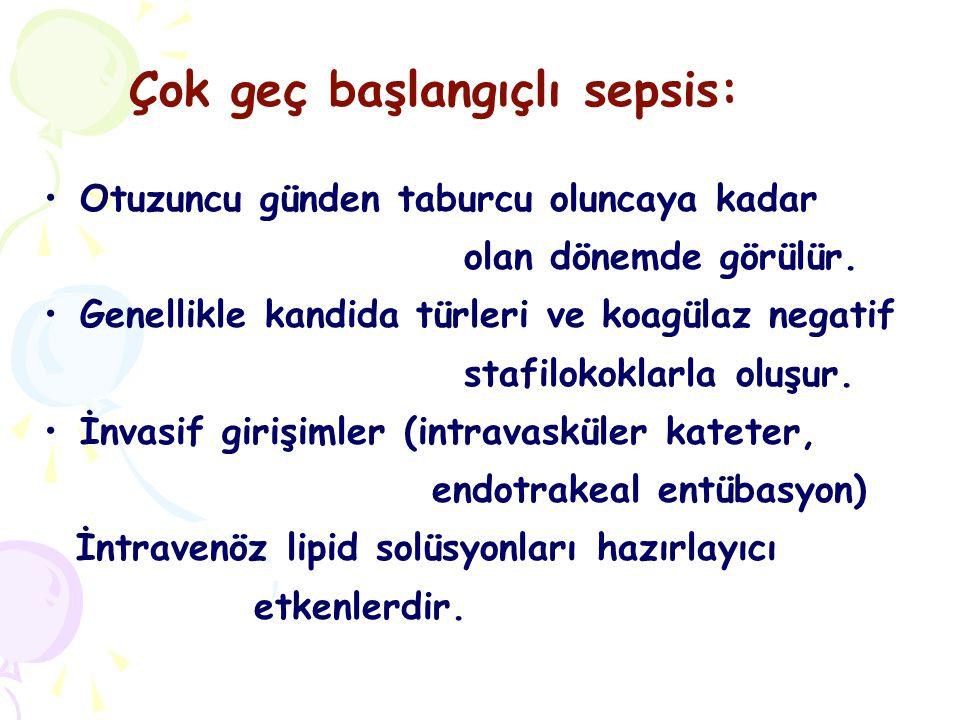 Yenidoğan sepsisinde tanı koymak oldukça güçtür.