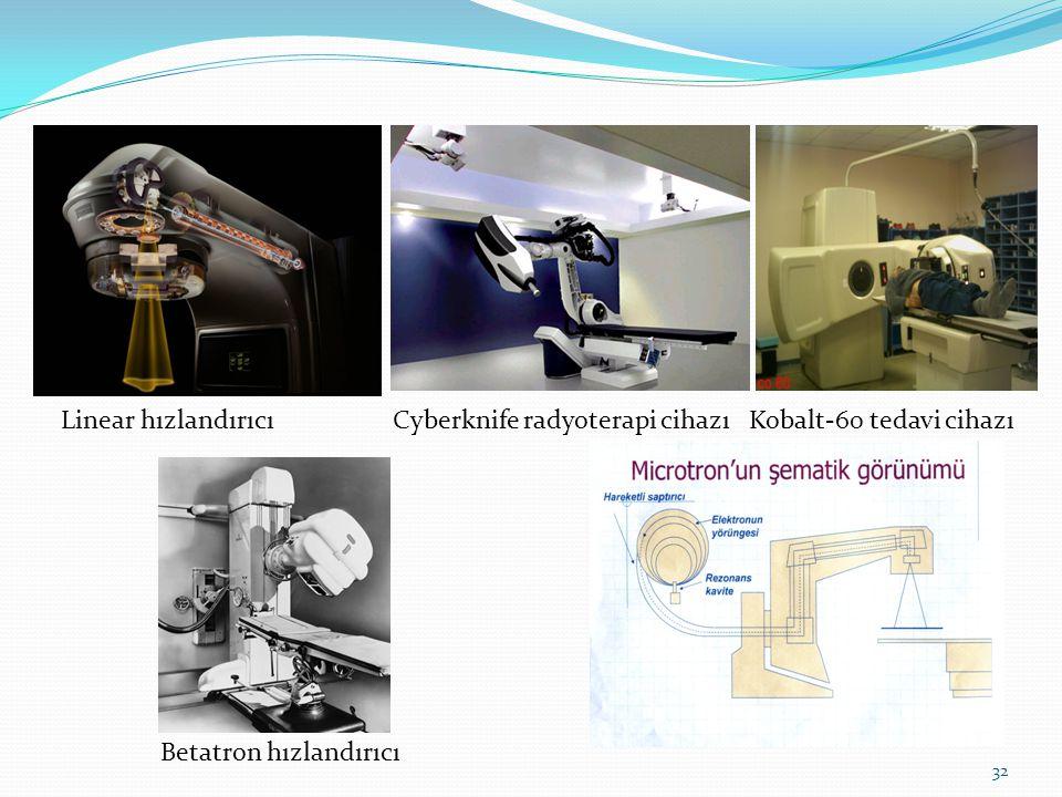 32 Linear hızlandırıcıCyberknife radyoterapi cihazıKobalt-60 tedavi cihazı Betatron hızlandırıcı