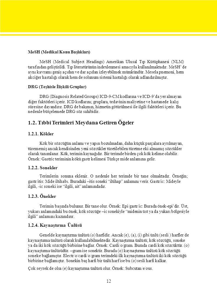 12 MeSH (Medikal Konu Başlıkları) MeSH (Medical Subject Headings) Amerikan Ulusal Tıp Kütüphanesi (NLM) tarafından geliştirildi.