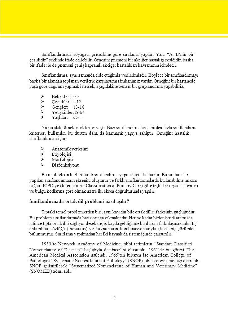 6 Sınıflandırma ve Kodlama Problemleri Sınıflandırma ve kodlama problemleri ayrı değerlendirilir.
