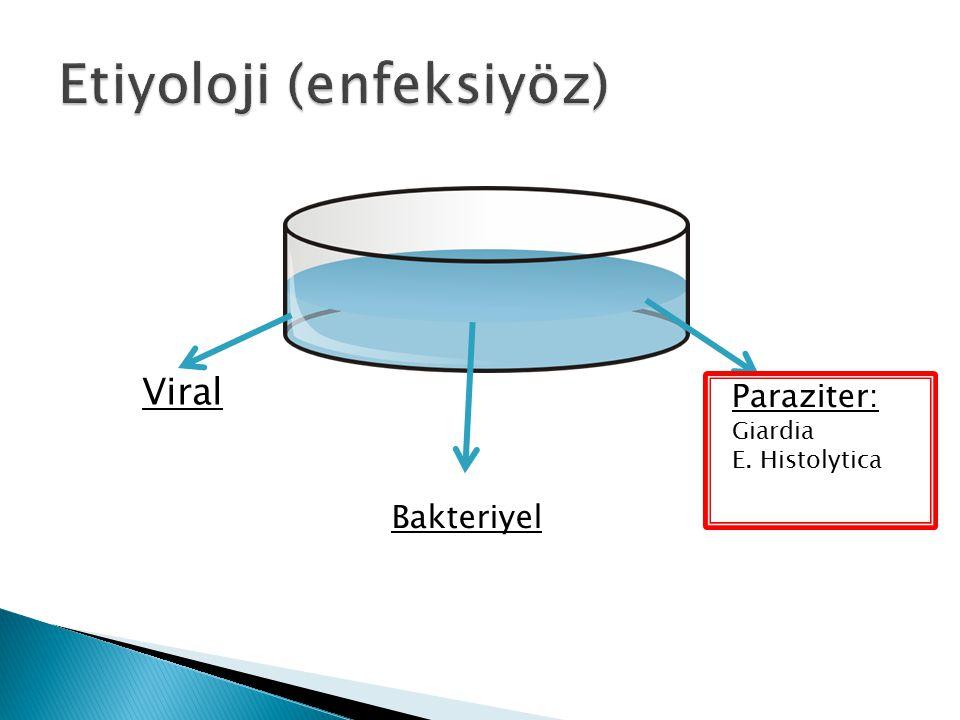 Viral Bakteriyel Paraziter: Giardia E. Histolytica