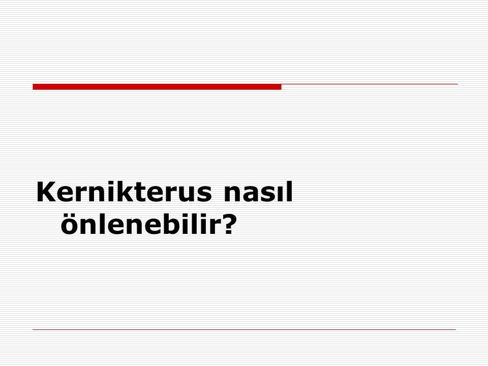 Kernikterus nasıl önlenebilir?