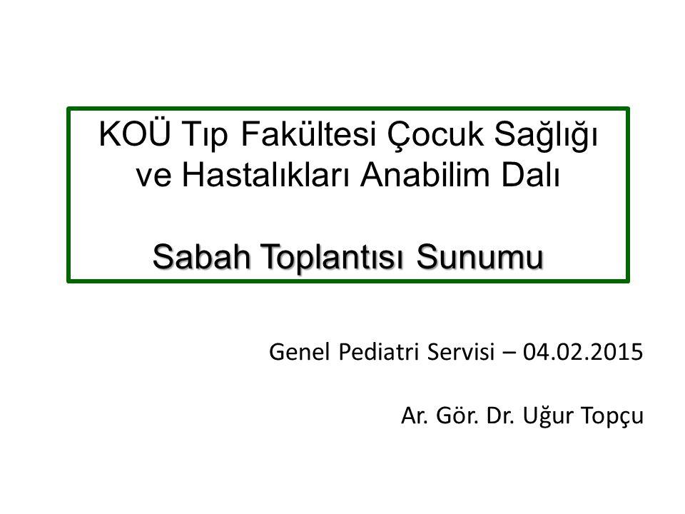 Laboratuar BUN: 19 mg/dl Kreatinin: 1,53mg/dl AST: 2771 U/L ALT: 471 U/L LDH: 7500 U/L Na: 131 mEq/L K: 4,67 mEq/L Ca: 8,4 mg/dl P: 4,4 mg/dl Total Prot: 6,6 g/dl Albümin: 3,72 g/dl Ürik asit: 5,2 mg/dl