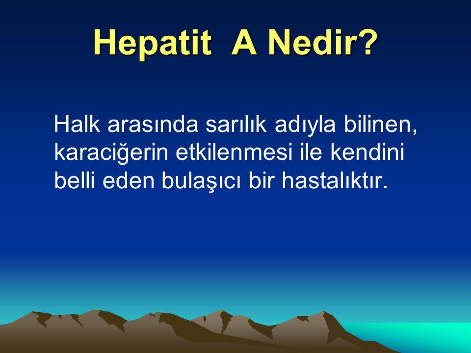 Hepatit A Nedir? Halk arasında sarılık adıyla bilinen, karaciğerin etkilenmesi ile kendini belli eden bulaşıcı bir hastalıktır.