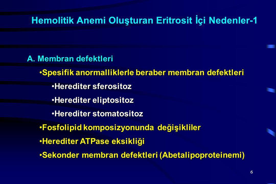 6 Hemolitik Anemi Oluşturan Eritrosit İçi Nedenler-1 A.
