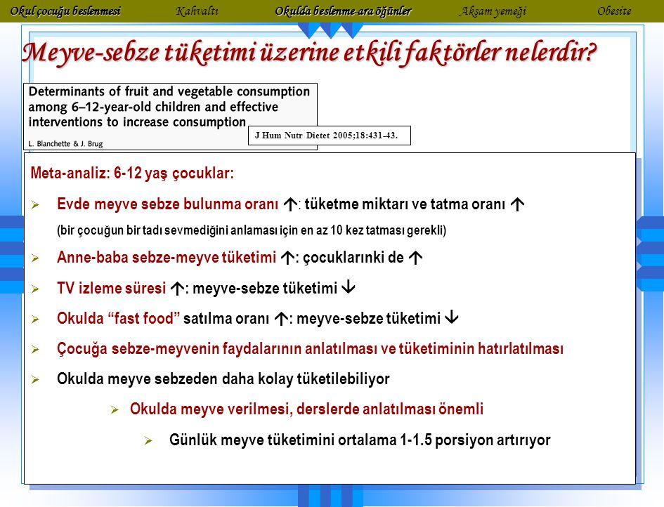 Enerji (Kcal) Protein (gr) Yağ (gr) Şeker (gr) Lif (gr) Na (mg) K (mg) Ca (mg) Sebze281.80.32.82.633339 Meyve8010.615.832.9283 Diyet süt ürünleri 9791