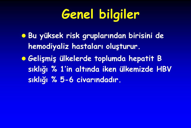 Hemodiyaliz hastalarında Hepatit B sıklığı