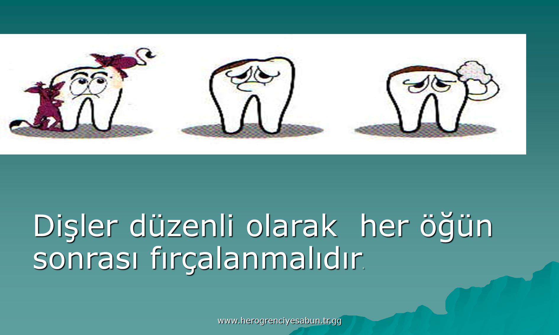 www.herogrenciyesabun.tr.gg Dişler düzenli olarak her öğün sonrası fırçalanmalıdır.