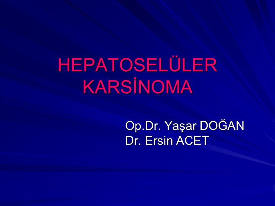 HEPATOSELÜLER KARSİNOMA Op.Dr. Yaşar DOĞAN Dr. Ersin ACET